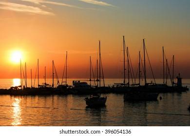 sundown in Novigrad, Croatia