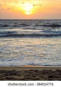 sundown scenery at a beach in Sri Lanka
