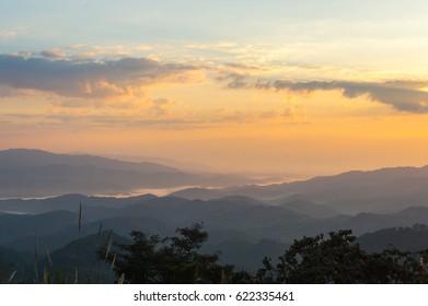 sundown sky background