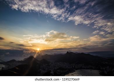 Sundown / Sunset Rio de Janeiro Brazil From Sugarloaf