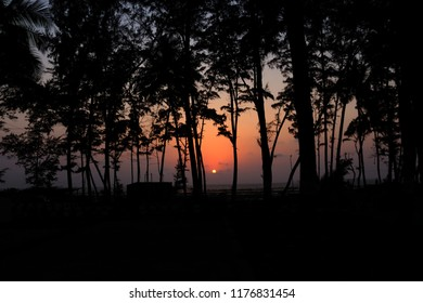 Sunet at the most famous Devka beach in Daman,India
