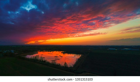 Sunet reflection to the drone