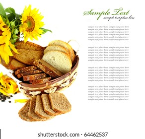 sunflower with bread