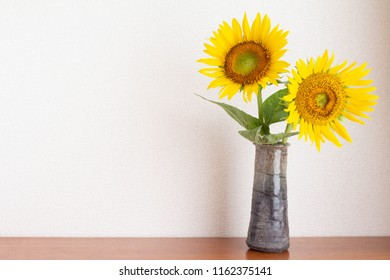 Sunflower flower decorated in vase