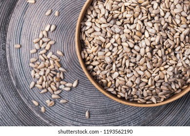 Sunflower Kernels Roasted Seeds Background. Toned image. Selective focus.