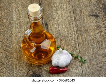 Sunflower oil with garlik and red hot pepper