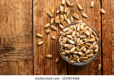 sunflower seed in bowl on a table