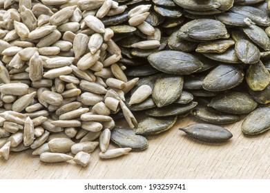 Sunflower seed and pumpkin seed