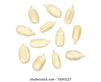 sunflower seeds isolated on white