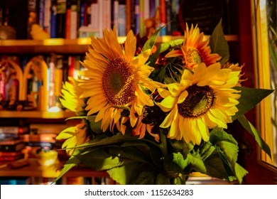 Sunflowers in the study