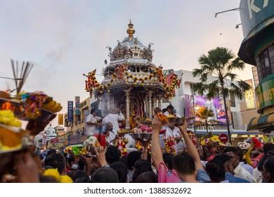 Sungai Petani, Kedah, Malaysia - February 2, 2018: Scenery during Thaipusam festival, Thaipusam is celebrated by Hindu Tamils to honor Lord Murugan the Hindu god of war.