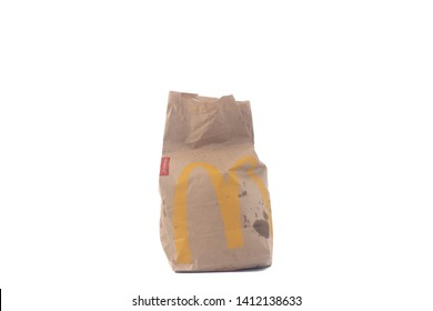 SUNGAI PETANI, MALAYSIA - MAY 28, 2019 - Mcdonalds paper container isolated on white background. fast food concept
