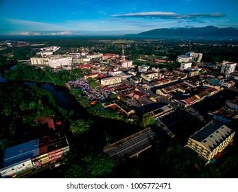 Sungai Petani town in Kedah State, Malaysia