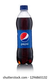 SUNGAI PETANI,MALAYSIA-JANUARY 24TH,2019 : Pepsi soft drink on white background. Pepsi is a carbonated soft drink produced and manufactured by PepsiCo Inc. an American multinational food and beverage.