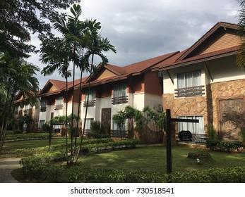 Sungkai, Malaysia - October 8, 2017: Landscape of Felda Residence Hot Springs