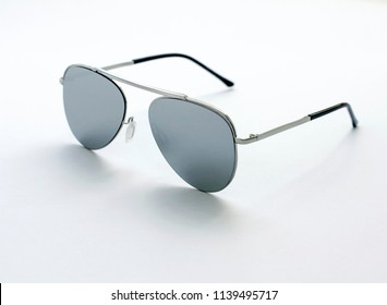 sunglases on the white background