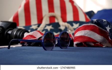 sunglasses and American Accessories independence day 4 July and american flag federal celebration