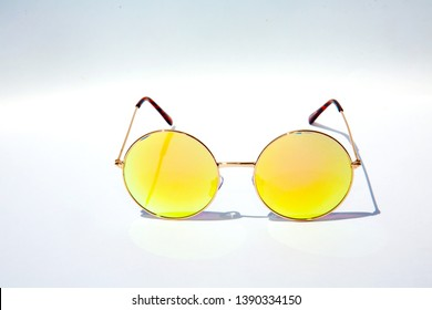 Sunglasses. Costume Sunglasses. Isolated on white. Room for text.