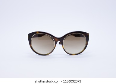 Sunglasses. Eyewear. Sunglasses with case. Sunglasses isolated on a white background