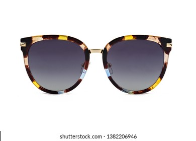 Sunglasses, front view isolated on white background