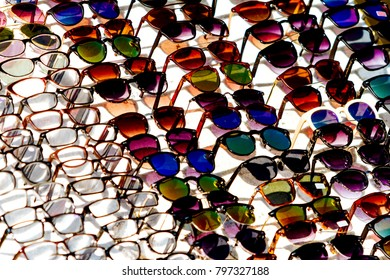 8974829a2c0 Pink Glasses Brilliant Mirror Pink Sunglasses Stock Photo (Edit Now ...