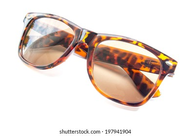sunglasses isolate on white background, accessory object.
