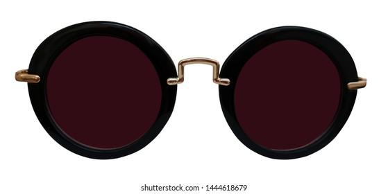 sunglasses, isolated on white background, optical object, fashion style