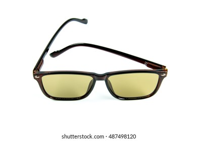 Sunglasses Man light brown isolate on white background
