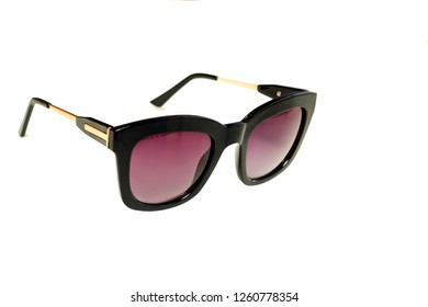 Sunglasses on a white background. Sunglasses Isolant. Glasses with dark glasses. Trendy things. Accessories. Optics.