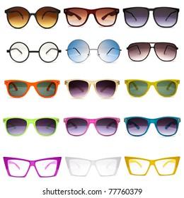 Sunglasses. Photo set