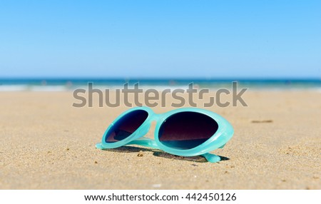 d2820fd981e5 Sunglasses Sand Beach Stock Photo (Edit Now) 442450126 - Shutterstock