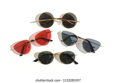 sunglasses set cat's eye and round, trend 2018, 2019
