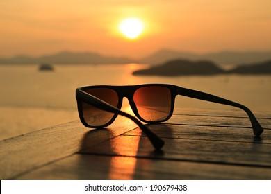 Sunglasses at Sunset
