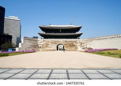 Sungnyemun Gate in Seoul, South Korea. Korea National Treasure No. 1