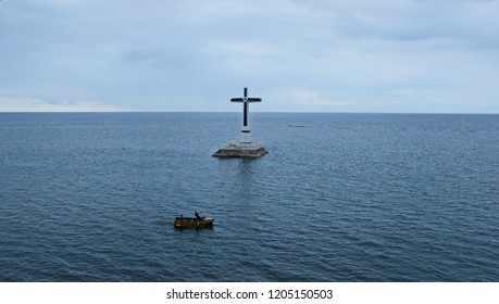 The sunken cemetery of Camiguin Island near Mindanao, Philippines