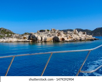 sunken city boat trip in Kekova and Demre on the south coast of Turkey