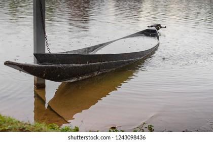sunken fishing boat in thailand