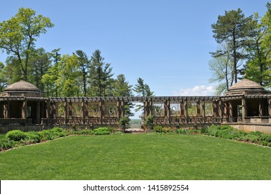 Sunken garden at Castle Hill, part of the Crane Estate in Ipswich, Massachusetts