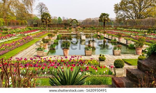 The Sunken Garden Kensington garden london