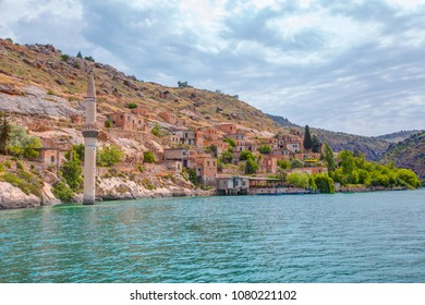 Sunken village of Halfeti in Gaziantep Turkey
