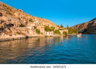 Sunken Village in Halfeti, Gaziantep - Turkey