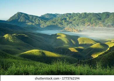 Sunkissed Dzukou Valley, Nagaland, India