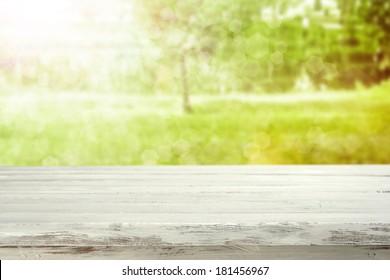 sunlight and desk of white