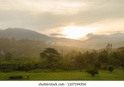 sunlight in the morning at countryside