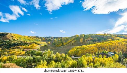 Sunlight Mountain Ski Resort in Glenwood Springs, Colorado in the fall.