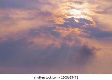 sunlight on clound background