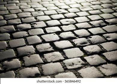 Sunlight On Cobblestones