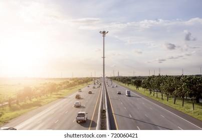 Sunlight on the highway