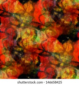 sunlight seamless red, yellow cubism abstract art Picasso texture watercolor wallpaper background
