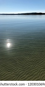 """Sunlight view of the lake """"Ammersee"""" near Munich in Bavaria"""
